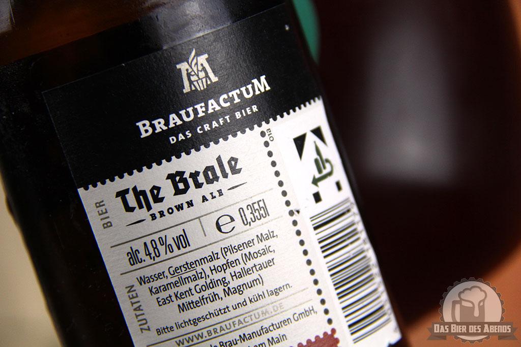 Braufactum, The Brale, Braunbier, braunes Bier, Brown Ale, Brown Beer