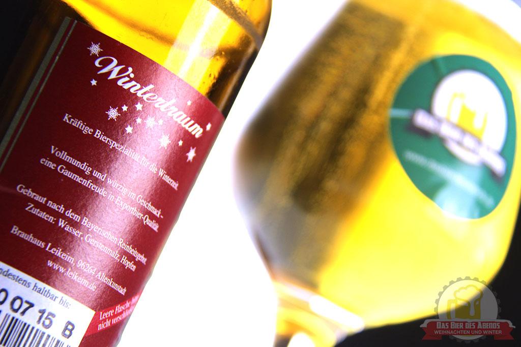 leikeim, wintertraum winterbier, winter, weihnachten, weihnachtsbier, biertest, bier, test