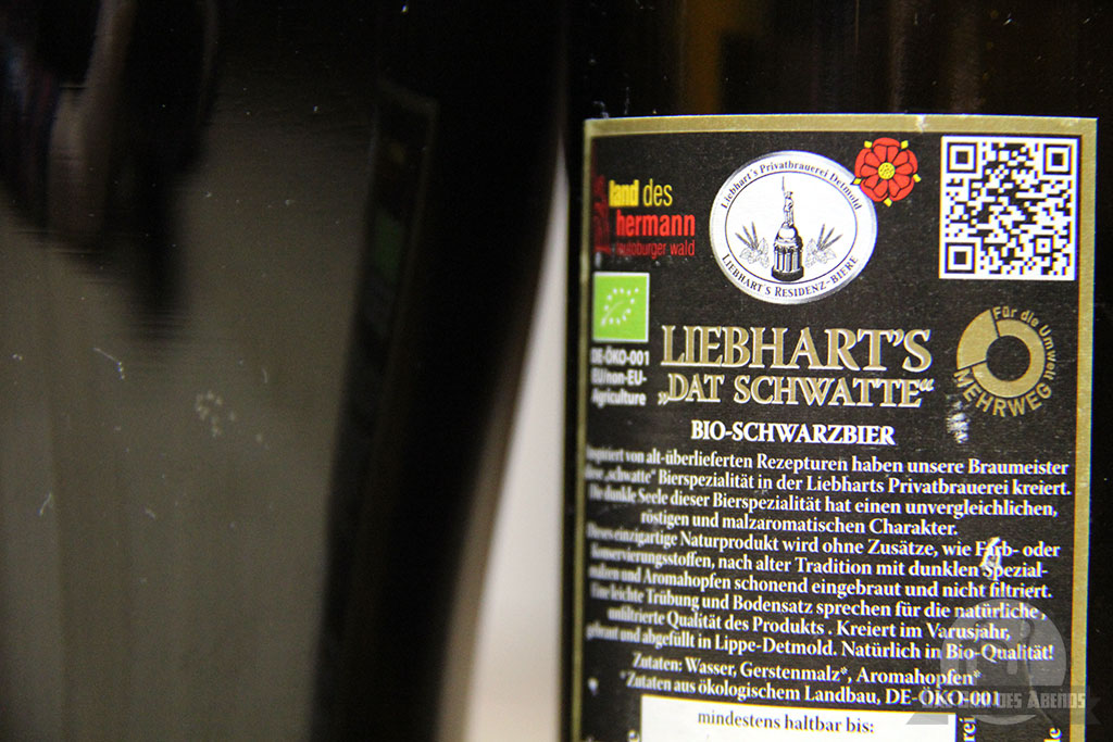 liebharts, liebhart's, liebhart, dat schwatte, schwarzbier, bio, bier, test, bewertung, biertest ,öko